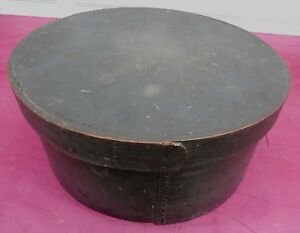 Rare 19th C Large 15 X 6 Best Pantry Box Old Green Paint Bottom Of Stack