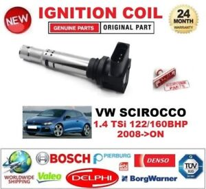 For Vw Scirocco 1 4 Tsi 122 160 Bhp 2008 on Ignition Coil 4 Pin Connector 12v