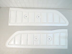 New 1961 1966 Ford Truck Door Panels white Pair f 100 F 250 Custom Cab