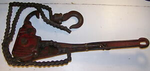 Coffing 3 4 To 1 1 2 Ton Lift Roller Chain Ratchet Lever Hoist Vintage