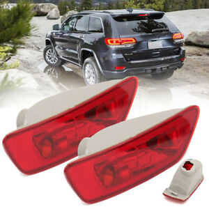 2pc Rear Tail Fog Light Lamp Cover Housing For Jeep Compass Grand Cherokee