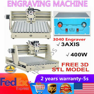 3 Axis 3040 Router Milling Engraver Engraving Drilling Machine Woodwork 400w