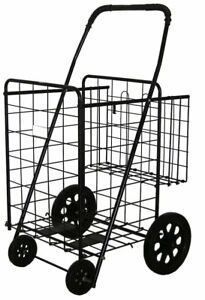 Folding Shopping Cart With Basket cart Size 39 8 X 24 4 X 22 4 Black