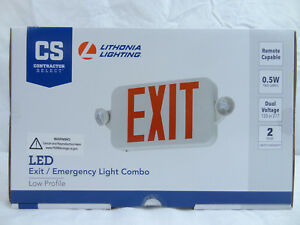 Lithonia Lighting Ecc R Rem M6 Low Profile Emergency Light Frog Eyes Exit Sign