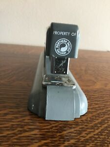 Rare Vintage Swingline 27 Office Desk Stapler Property Of Northern Pacific Rw