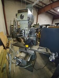 Supermax Ycm 16vs price Reduced Vertical Knee Mill R 8 3hp 9 49 Table