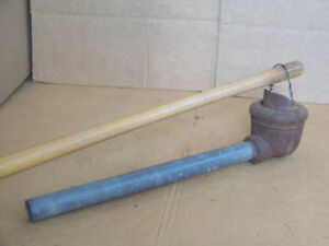 Antique Rustic Farm Hand Water Well Pump Conductor Cup Pipe Old Windmill Decor
