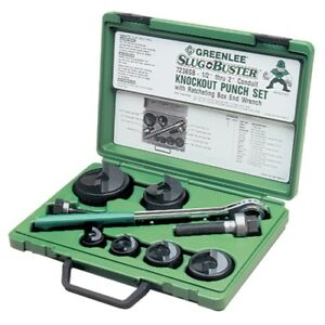 Greenlee 7238sb Slug buster Knockout Kit With Ratchet Wrench 1 2 Thru 2