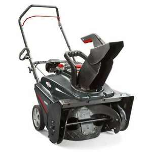 Briggs Stratton 22 208cc Single Stage Electric Start Gas Snow Thrower used