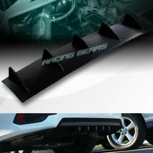 Universal Shark 5 Fin Carbon Look Rear Body Lower Wing Lip Diffuser 23 X 6