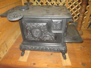 Early1900 S Very Ornate Family Darling Wood Coal Stove Evansville Indiana