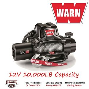 96810 Warn Vr10 Vehicle Mounted Recovery Winch 12v10000lb Pull 94 Wire Rope