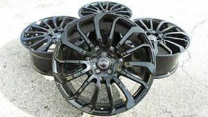 Black Range Rover Wheels 22 Autobiography Hse Sport Land Rover Rims 2019 2018