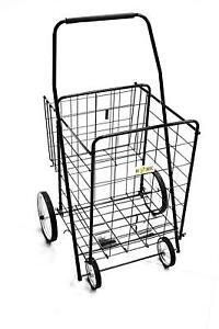 Folding Shopping Cart With Basket cart Size 39 7 X 22 4 X 24 4 Black