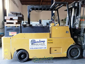 25 000 Lbs Used Royal Forklift Electric Forklift Mdl Te 350sp Hard Tires B