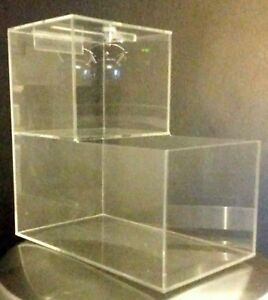 5 New Locking Acrylic Honor Candy Selling Donation Box Vending Route Business