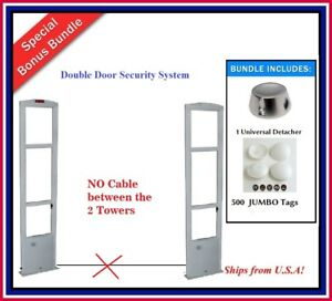 Double Door Wireless Pkg Eas Rf Checkpoint Compatible Security System Tags