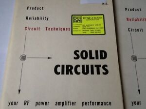 Solid Circuits Rf Power Amplifier Communications Transistor Corp Booklets 1970s
