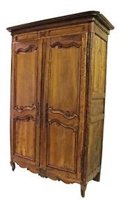 Fine 18th C Large French Country Armoire Wardrobe Bookcase Cabinet Chest Antique