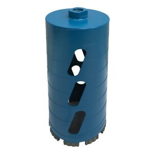 Dry Diamond Core Drill Bit 4 Inch X 140 Inch For Soft Brick 5 8 Inch 11 Threads