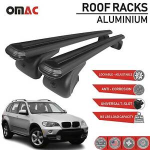 Roof Rack Cross Bars Luggage Carrier Black For Bmw X5 E70 2008 2013