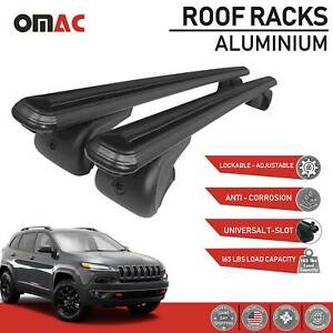 Roof Racks Cross Bar Carrier Rails Roof Black With Tuv For Jeep Cherokee 2014