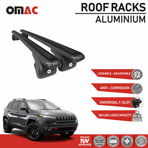 Roof Racks Cross Bar Carrier Rails Roof Black For Jeep Cherokee kl 2014 2019