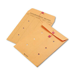 Brown Kraft String Button Interoffice Envelope 9 X 12 100 carton 63462 1