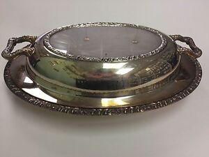Vintage Henley Oneida Silver Plate Server With Cover