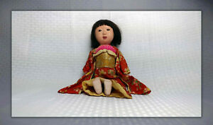 Antique Authentic Gofun Japanese Ichimatsu Doll 12 100 Years Old Vg