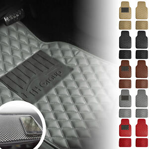 Universal Floor Mats Cars Diamond Design Leather 5 Colors W Free Gray Dash Mat