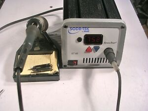 Pace Sodr tek Soldering Station With Pace Iron Iron Stand And Additional Tips