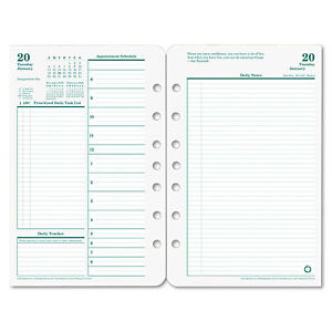 Franklincovey Original Dated Daily Planner Refill January december 5 1 2 X 8