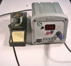 Pace St 50 Soldering Station With Pace Iron Iron Stand And Additional Tips
