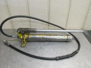 Enerpac P39 Hydraulic Hand Pump For Jack Porta Power 10 000 Psi With Hose