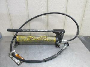 Enerpac P39 Hydraulic Hand Pump For Jack Porta Power 10 000 Psi With Hose 3