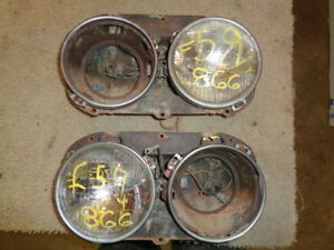 1958 1959 1960 Ford Pickup Truck Headlight Mount Bucket Dual Bulb Pair Original