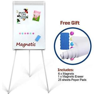 Magnetic Whiteboard Easel 24 X 36 height Adjustable Dry Erase Board Tripod Pad