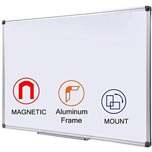 Magnetic Dry Erase Board 24x36 Inch White Aluminum Frame Marker Boards For Or