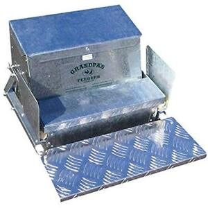 Grandpa s Feeders Automatic Chicken Sturdy Galvanized Steel Poultry Rat Proof