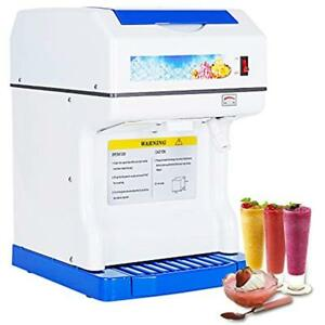 Electric Ice Shaver Machine Commercial Crusher Snow Cone Maker Shaved Crusher