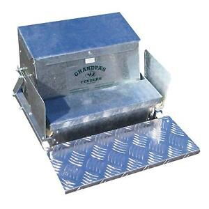 Automatic Chicken Feeder Poultry 20lb Feed Steel Outdoor Weatherproof Rat Proof