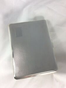 Vintage Smith Bartlam Hm Silver Gilt Cigarette Case Card Case C1946