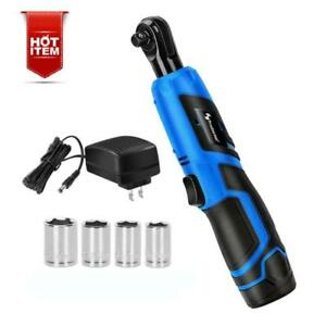 3 8 Cordless Electric Ratchet Wrench 12v Kit With 4 Sockets 2000mah Fast Charge