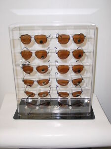 12 Pairs Enclosed Sunglasses Counter Display Nib