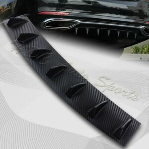 1 X Carbon Style Rear Lower Bumper Diffuser Fin Spoiler Lip Wing Splitter 34 x6