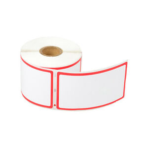 Red Framed Stickers Tags 30344 For Dymo Labelwriters 2 5 16 X 4 300 Labels