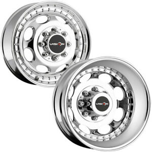 Set Of 6 vision 181h Hauler Dually 19 5 8x200 Chrome Wheels Rims lugs Included