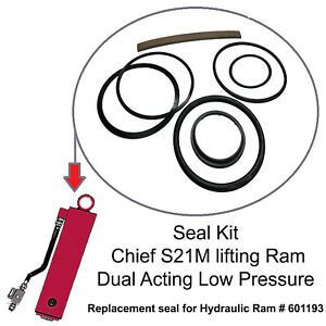 Seal Kit Lift Ram Chief S21m Frame Machine