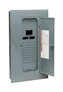 Square D By Schneider Electric Main Breaker installed Load Center 100 amp